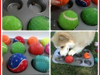 DIY Muffin tin with treats under toys.